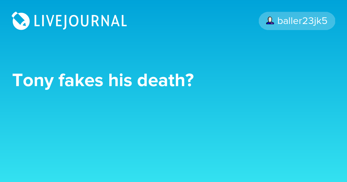 Tony fakes his death?: avengers_search — LiveJournal