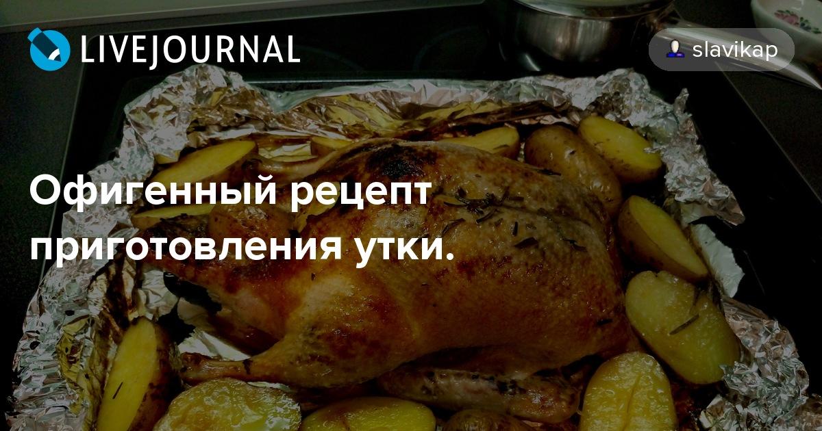 Все рецепты приготовления утки