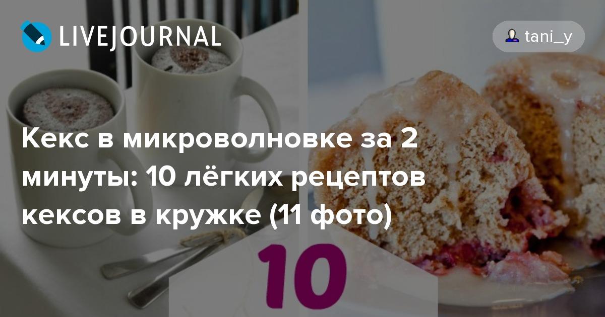 Рецепт кекс в микроволновке за 3 минуты