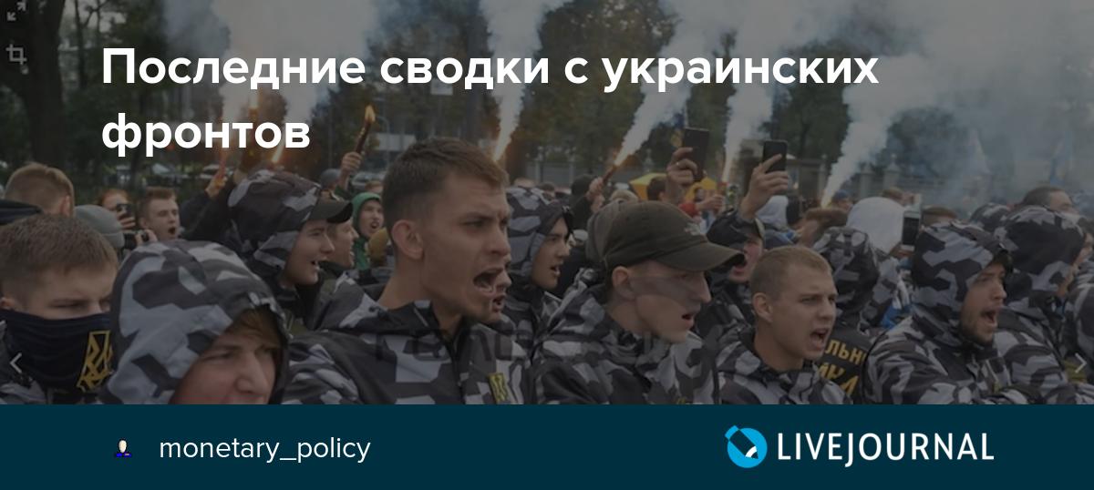 Последние сводки с украинских фронтов