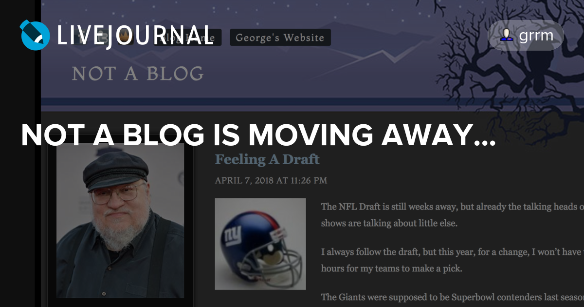 NOT A BLOG IS MOVING AWAY...