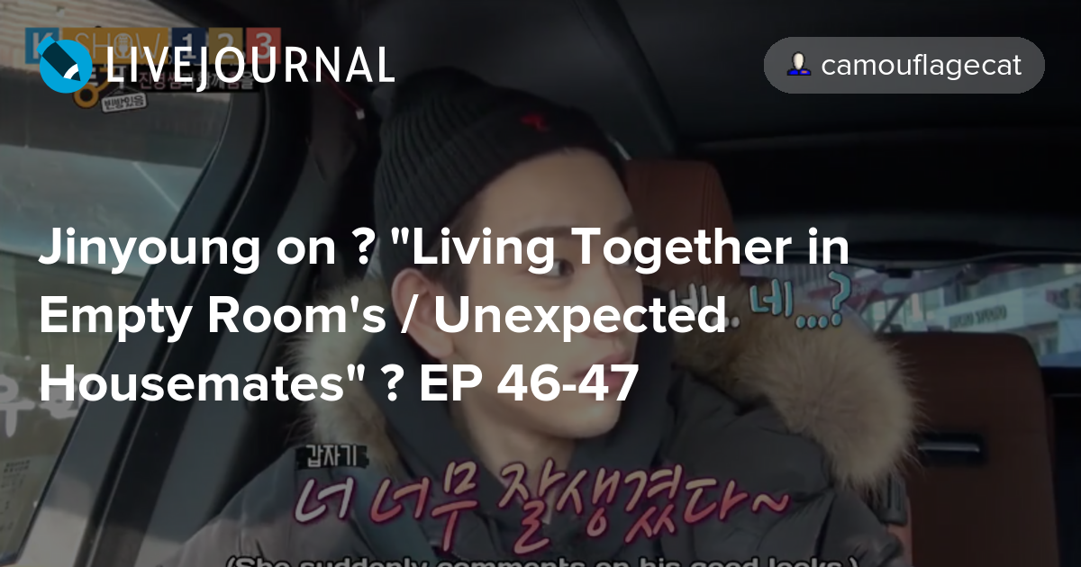 Jinyoung On Living Together In Empty Rooms Unexpected