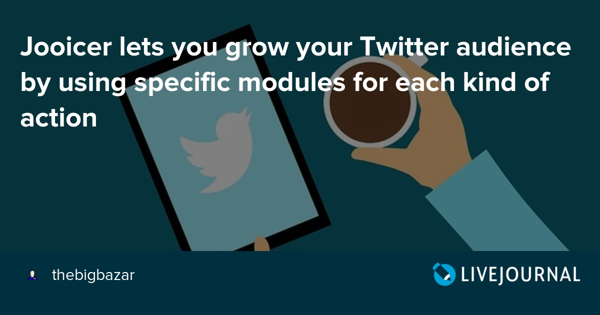 Jooicer lets you grow your Twitter audience by using