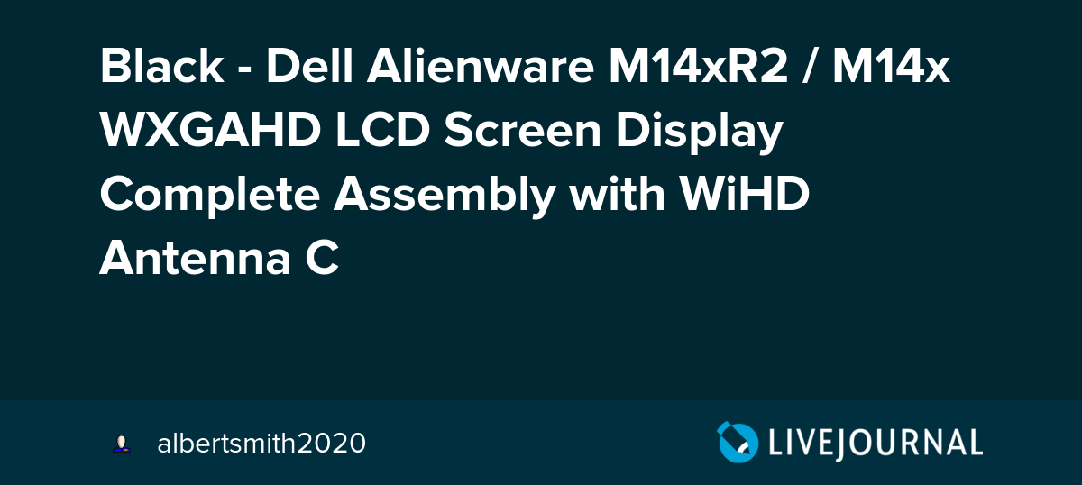 NEW Alienware M14x M14xR2 Complete LED LCD Screen Assembly w//Hinges H3FV8
