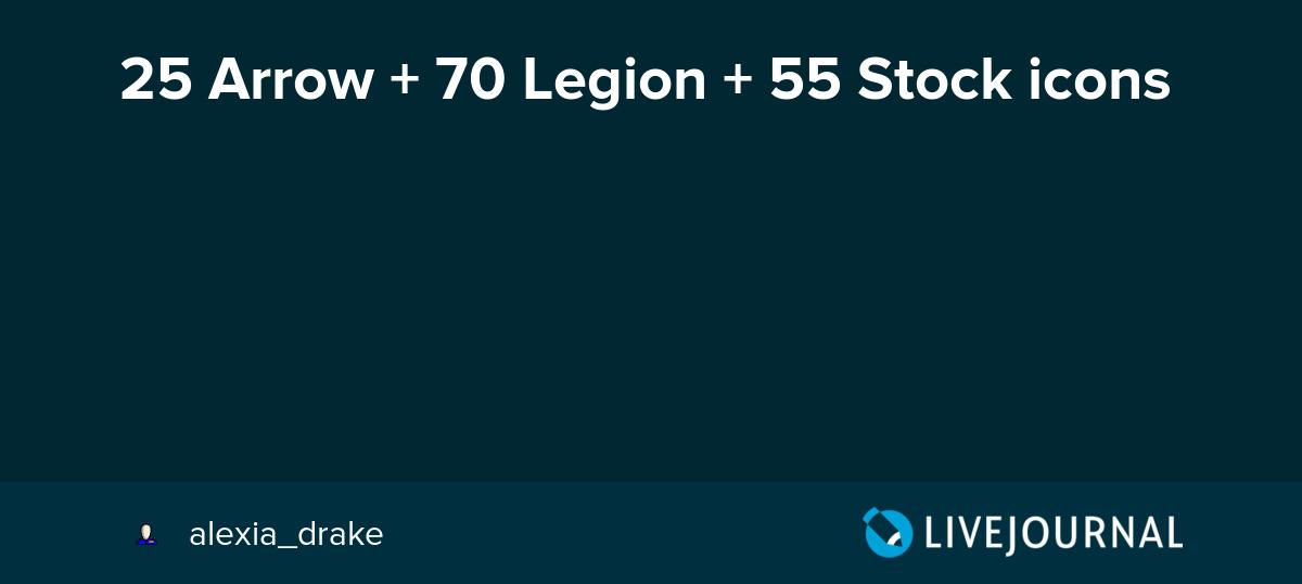 25 Arrow + 70 Legion + 55 Stock icons: alexia_drake