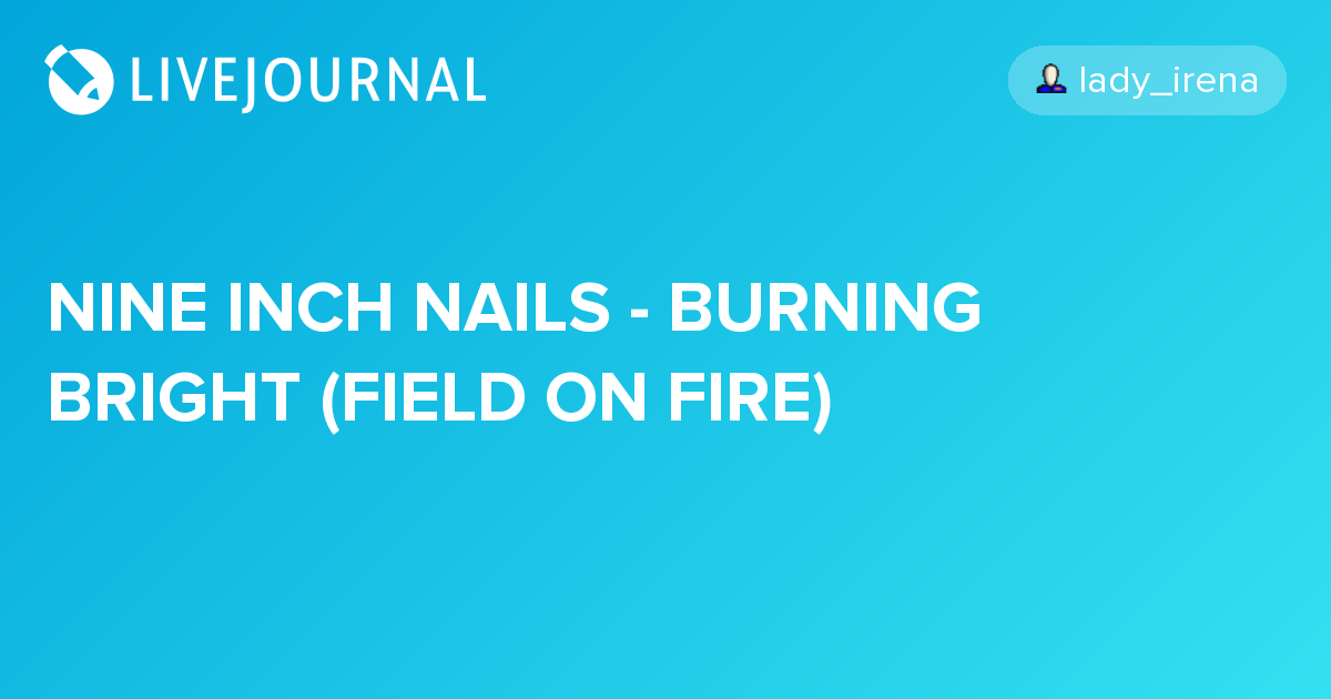 NINE INCH NAILS - BURNING BRIGHT (FIELD ON FIRE) - ILLNESS ILLUSION