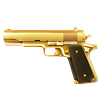 barbro sent you a a gold gun!