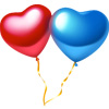 timetraveled sent you Heart Balloons!
