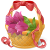 randomflamingo sent you a Flower Basket!