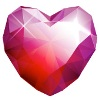 ohfreckle sent you a beautiful Ruby Heart!