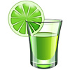 takeheart sent you a shot with a lime.