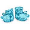 bluemeringue sent you some adorable Blue Bootees!
