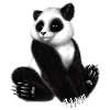 bewarethesword sent you a cute little Panda!