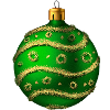 Someone sent you a beautiful Green Ornament!