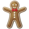 fast_squirrel sent you a Gingerbread Man!