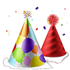 bouncywild sent you some colorful Party Hats!