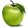 amberina_dark sent you a green apple!