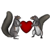 ghosts sent you a little Squirrel Love!