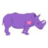 frank sent you a purple rhino for charity!