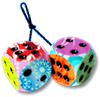 yayhappens sent you some fuzzy dice!