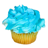 Someone sent you a delicious blue meringue cupcake!