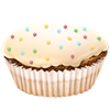 delo_very wants you to enjoy a vanilla cupcake.