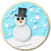 potere sent you a snowman cookie.