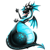 curlycat sent you a blue dragon!